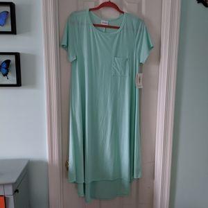 NWT Seafoam color Carly dress from Lularoe. sz M